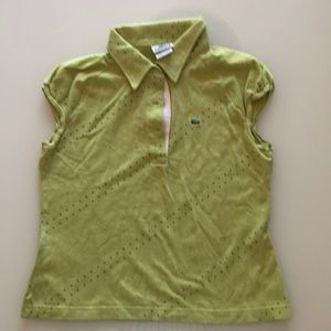 lacoste green sleeveless top